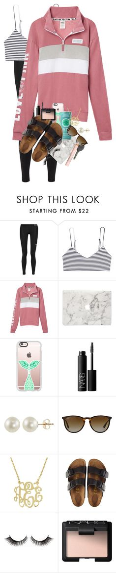 """Ugh... School"" by erinlmarkel ❤ liked on Polyvore featuring NIKE, Mikoh, Agent 18, Casetify, Cherokee, NARS Cosmetics, PearLustre by Imperial, Ray-Ban, Birkenstock and Isadora"