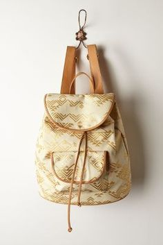 Cool gilded arrow backpack at Anthropologie