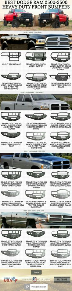 Dodge Ram Front and Rear Bumpers at Road Armor. Order Front & Rear Bumpers for your Dodge Truck with Fast shipping on all Dodge Ram Bumpers. Ram Trucks, Cummins Diesel Trucks, Dodge Cummins, Dodge Trucks, Jeep Truck, Pickup Trucks, Lifted Trucks, 4x4, Medan
