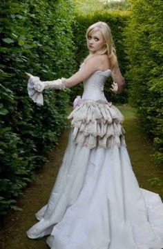 Steampunk  Gown | , steampunk wedding,steampunk dress,steampunk wedding gown,steampunk ...