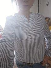3463b7cbd68 Women Blouses Shirt Female 2018 New Autumn Cotton Linen casual striped  Longrricdress   Products   White shirts women, Striped long sleeve shirt,  ...