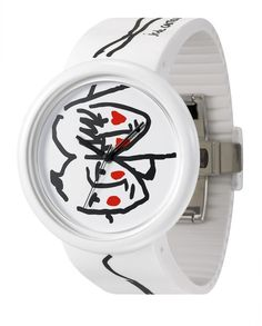 https://www.cityblis.com/7068/item/15357  JC04-2 - $125 by odm  Famous French fashion designer Jean Charles de Castelbajac (JCDC) loves art and enjoys playing art design,sparkles the idea of drawing on the wrist!Using the timepiece dial as the canvas and the case mirror as frame, an art piece is ready on the wrist! JCDC x odm proudly presents the latest art ...