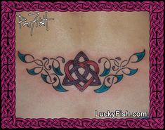 bba25ffb4 A feminine and delicate way to have a Celtic heart and triscle in knotwork  with a. LuckyFish Art