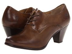 Frye Phoebe Oxford in Grey Soft Vintage Leather - Zappos.com, $228 (also in a dark reddish brown)