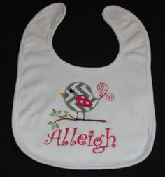 https://www.etsy.com/listing/175584982/custom-embroidered-bib-with-appliqued? $14
