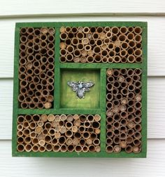 House for mason bees - tips on DIY houses plus other great garden info.