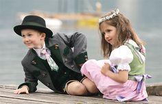 Kids wearing traditional Austrian clothing #feelaustria