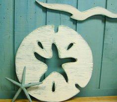 Sand Dollar Starfish Sign Wall Art Beach House Decor. $39.00, via Etsy. White Wall Decor, Wall Art Decor, Beach House Decor, Beach Houses, Home Decor, Nautical Home, Nautical Signs, Beach Wall Art, Beach Signs