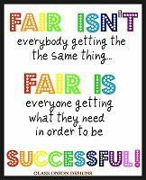 Fair Isnt Printable for Classroom. $5.00, via Etsy..