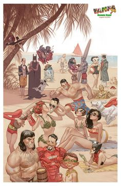 Heroes day at the beach by Julian Totino Tedesco