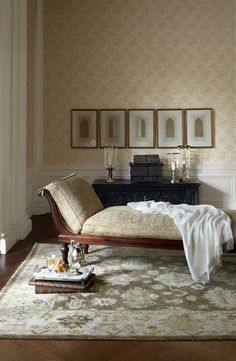 Ralph Lauren Home's Langford is a traditional rug reflecting the masterful artistry of centuries-old carpet weaving techniques
