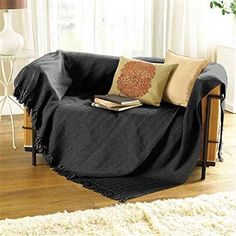 Collie ZigZag Black Grey Bed Chair Sofa Settee Cotton Throw Blanket With Tassels Extra Large 170cm x 200cm Hallways http://www.amazon.co.uk/dp/B00DIA8BFK/ref=cm_sw_r_pi_dp_E204ub0T5CK0A