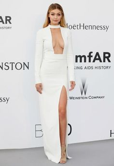 El escotazo de Gigi Hadid en la gala amfAR de #Cannes2015