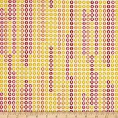 Thesausus Letters White from @fabricdotcom  Designed by Thomas Knauer for Andover, this cotton print fabric is perfect for quilting, apparel and home decor accents. Colors include yellow, red, white, pink and orange.