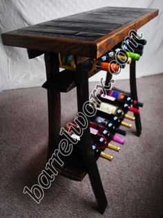 Barrel stave Wine Tasting Table by BarrelWorx on Etsy