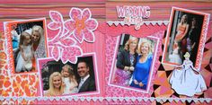 Scrapbook Page - Wedding Day - 2 page layout with a flower and Disney Princess from Wedding Album 4