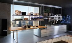 Arclinea Kitchen Design Information Ikea Kitchen, Kitchen Furniture, Kitchen Interior, Furniture Design, Stainless Steel Kitchen Design, Kitchen Pictures, Dining Table Chairs, Kitchen Remodel, Designer