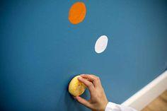 Adding Polka Dots to a Wall