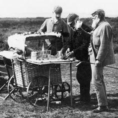Old Tom Morris enjoys a Ginger Beer on the Old Course, St. Andrews, Scotland. Beverage cart!