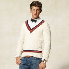 Rugby Ralph Lauren: elbow patch cricket sweater, $128