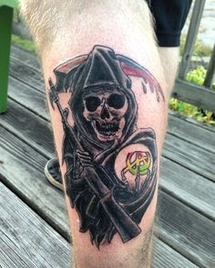 Did this today #soatattoo #sonsofanarchy #sonsofanarchytattoo #reaper #apprentice #apprenticetattoo #skull