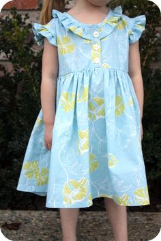 Tutorial and pattern design for The Coraline dress. Free