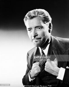 Portrait of actor Ronald Colman , wearing a three piece suit and tie, for Columbia Pictures, Get premium, high resolution news photos at Getty Images Ronald Colman, George Hurrell, Three Piece Suit, Columbia Pictures, Silent Film, Suit And Tie, Persona, Movie Stars, Actors & Actresses
