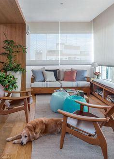 Varanda + Espaço Gourmet 30m² / Marina Linhares #apartamento #sitting #window