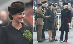 The Duke and Duchess of Cambridge were at the Mons Barracks in Aldershot for the traditional St. Patrick's Day parade.