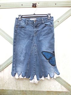 Jean Skirt, upcycled