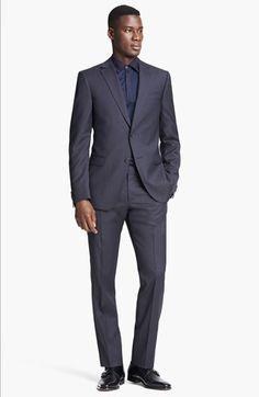 Z Zegna Pattern Wool Suit