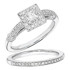 This wedding ring set is on sale! Beautiful!
