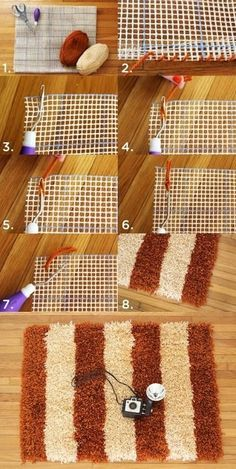 Simple and beautiful carpet DIY & Crafts Tutorials: Simple and beautiful carpet DIY & Crafts Tutorials: Diy Carpet, Rugs On Carpet, Cheap Carpet, Hall Carpet, Carpet Decor, Diy Tapis, Crochet Projects, Sewing Projects, Diy Projects