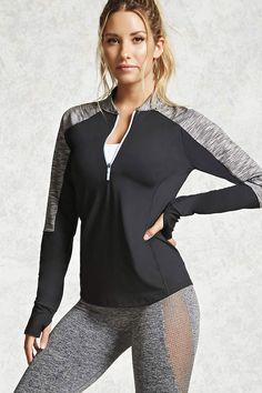 Active Marled-Sleeve Jacket