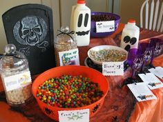 spooky cereal buffet