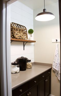 Our laundry room barn door project is complete! See how to transfer a small space with lack of storage to a modern farmhouse laundry room. Laundry Room Doors, Laundry Room Remodel, Farmhouse Laundry Room, Laundry Room Design, Kitchen Remodel, Two Panel Doors, Barn Door Designs, Kitchen Shop, Interior Barn Doors