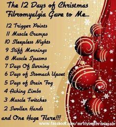 The 12 Days of #Christmas #Fibromyalgia Gave to Me... Thank you Cheryll ❤️