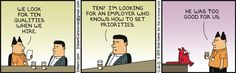 Ten Things We Look For In Employees - Dilbert by Scott Adams