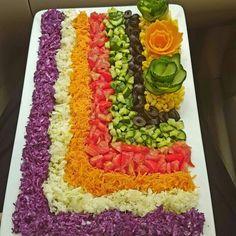 Decorate the تزیین سالاد Decorate the salad - Veggie Platters, Veggie Tray, Food Platters, Vegetable Decoration, Food Decoration, Salad Design, Food Design, Raw Food Recipes, Snack Recipes