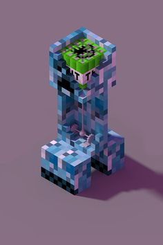 What the inside of a creeper looks like. I pinned a very similar photo like this one already but the colors of the creeper and the TNT were different.