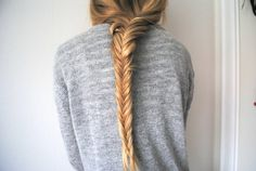 beautiful long blond braid