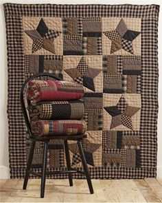 """Bingham Star Throw Quilted 50x60"""""""