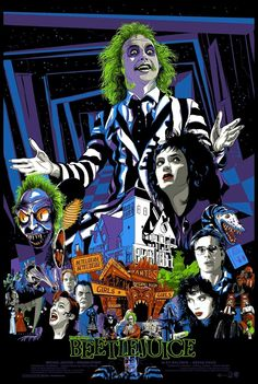 'Beetlejuice' by Vance Kelly.A privately commissioned poster, and unfortunately not for sale.
