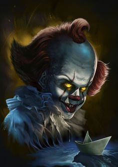 Pennywise Lives, Pennywise The Dancing Clown, Arte Horror, Horror Art, Scary Movies, Horror Movies, Pennywise Painting, Disney Sleeve Tattoos, Ariana Grande Drawings