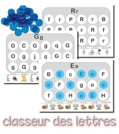 Fun alphabet game in French. Cookie Sheet Activities, Kids Learning Activities, Kindergarten Literacy, Literacy Centers, French Alphabet, Reading Buddies, Uppercase And Lowercase Letters, Letter Recognition, Lower Case Letters