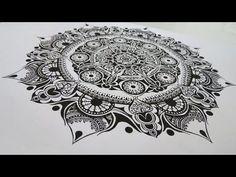 Zentangle #15 * Zeitraffer - YouTube