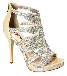 Blossom Womens Sam-26 Dressy High Wedge Heel Strappy Pumps Sandals