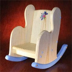 Items similar to Child's Wooden Rocking Chair – Personalized on Etsy - Diy furniture for kids Unique Wood Furniture, Diy Kids Furniture, Doll Furniture, Cheap Furniture, Furniture Outlet, Rocking Chair Plans, Wooden Rocking Chairs, Wooden Chairs, Wooden Projects