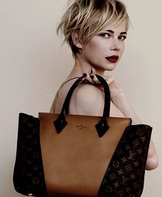 via The Neo-traditionalist: Michelle Williams Louis Vuitton Handbag Ad Campaign. Wow... Michelle Williams looks amazing. Love the defined messiness of her hair. So cool!