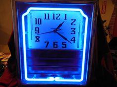 Hammond Advertising Neon Clock